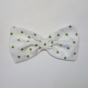 Pajarita Blanca Lunares Verdes