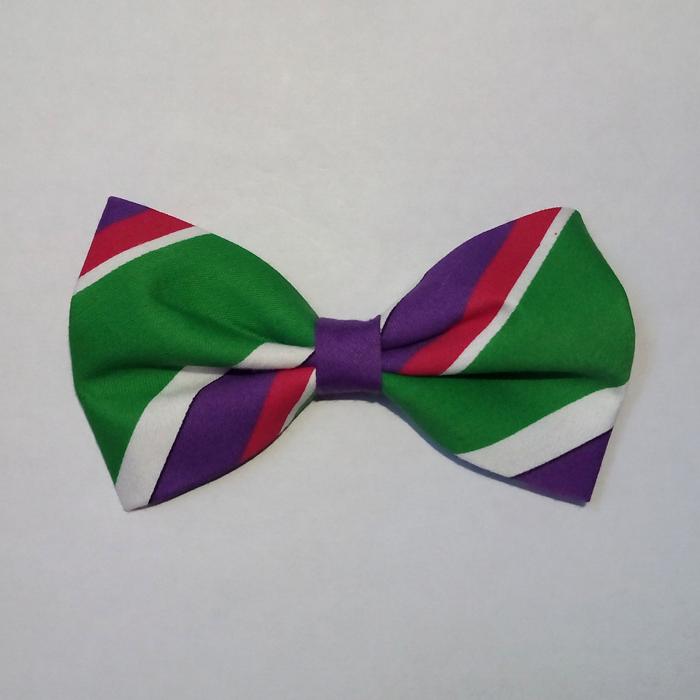 Pajarita Rayas Verdes Violeta Fucsia