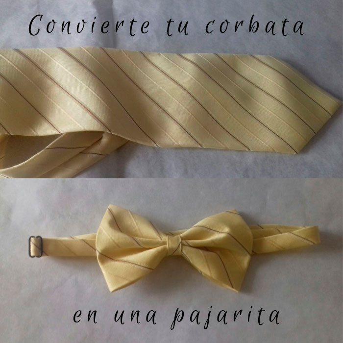 Convierte tu corbata en una Pajarita
